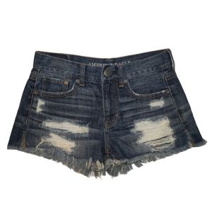 American Eagle Tomgirl Shorties Distressed Shorts